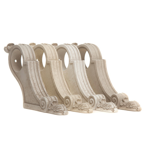 Acanthus Vintage French Curtain Pole Brackets