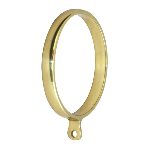 Classic Brass Curtain Rings Polished Brass