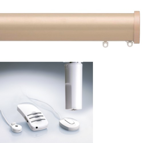 Silent Gliss 6150 Ir Electric Curtain Pole With Remote Control Taupe