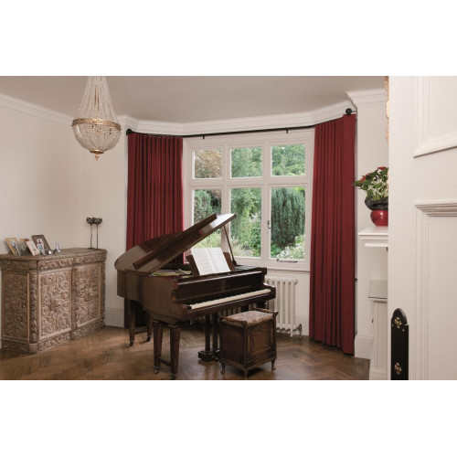 silent gliss 6130 metropole bay window curtain pole cream. Black Bedroom Furniture Sets. Home Design Ideas