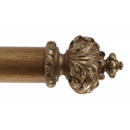 Alison Davies Fools Gold Paris Finial Wooden Curtain Pole